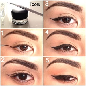 Hey Loves, here is how I apply my winged eyeliner :)