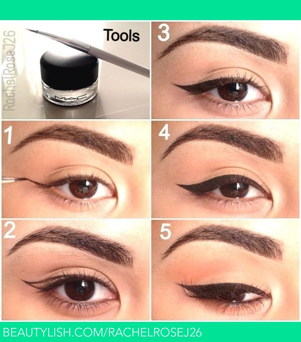 How To Do Cat Eyeliner On Round Eyes
