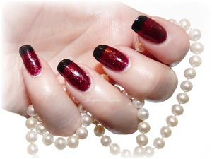 Shimmer Polish in Marilyn with Layla Ceramic Effect Pure Black tips