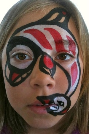 I designed this look and actually got to paint it (twice) on the Chief of the Tswawassen First Nation here in BC, Canada (pics on my facebook page)