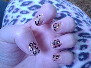 just a design I did with kiss nail stickers. .
