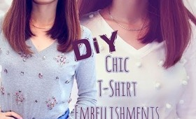 ❣ DIY:Chic Ways to Decorate Your Shirts