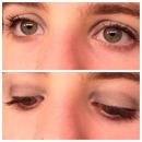 Blue and grey eye shadow