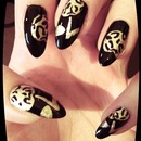 Cherry leopard nail design