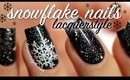 Snowflake Nail Art Tutorial | Lacquerstyle
