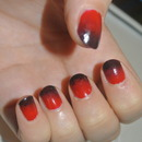 Red to Black; gradient