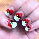 angry bird nails.