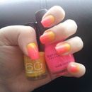 Yellow and pink gradient.