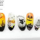 Korean Halloween nail art