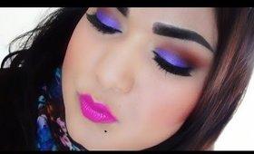 Quick Makeup Tutorial : Purple  Hazel.
