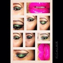 Bh cosmetics with green & black