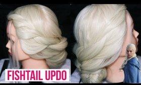 Game of Thrones Khaleesi Inspired Hair Tutorial | Fishtail Updo