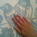 mint bird blue