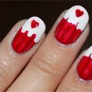 Quick Canada Day Cupcake Nails
