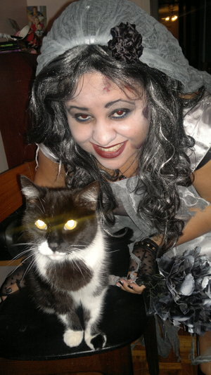 Me and my cat Tinkerbell xxx