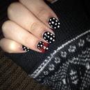Polka dots nails.c;