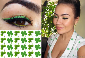 shamrocks & clovers inspired :) All info on my blog: http://www.maryammaquillage.com/2012/03/kiss-me-im-lucky.html