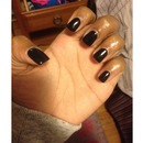 All Black Nails