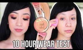 Too Faced Peach Perfect Comfort Matte Foundation Review and Demo! | Foundation Routine