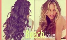 ★VICTORIA'S SECRET HAIR | HOW TO CURL BEACH WAVES HAIRSTYLES FOR MEDIUM LONG HAIR TUTORIAL & OOTD