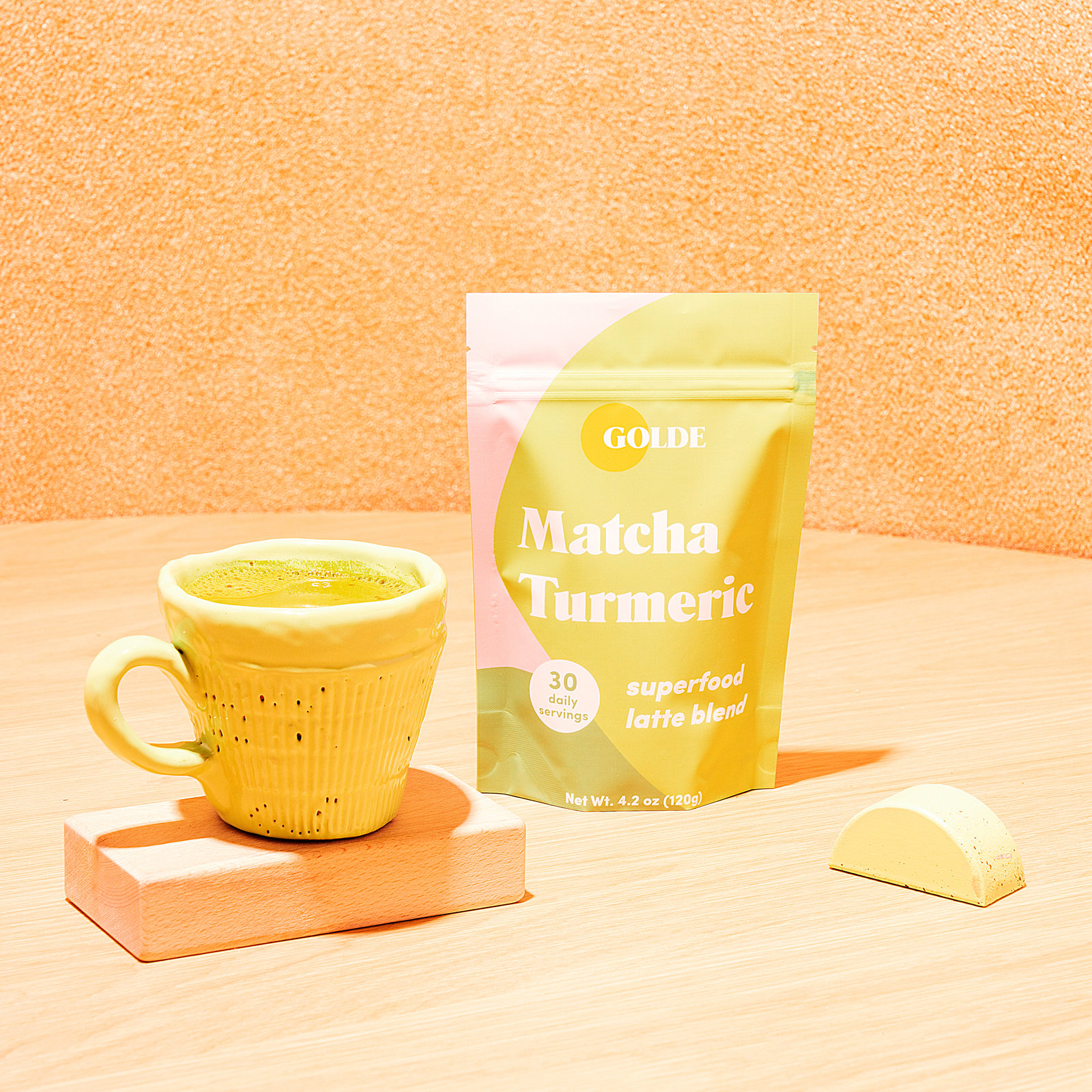 Alternate product image for Matcha Turmeric Latte Blend shown with the description.