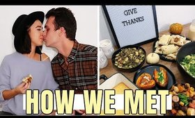 MARRIED MUKBANG | Veganish Thanksgiving and Couple's Q&A