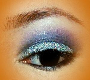 I used glitter pigments