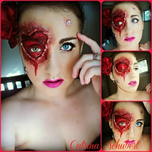 Just a different spin on the Valentine's Day makeup :)