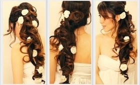 ★VOLUMINOUS HOMECOMING WEDDING HAIR TUTORIAL | ELEGANT CURLY HALF-UP UPDO HAIRSTYLES FOR LONG HAIR