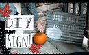 DIY GALVANIZED FALL SIGN! FARMHOUSE STYLE SIGN! 2017 FALL DIY & DECOR CHALLENGE!