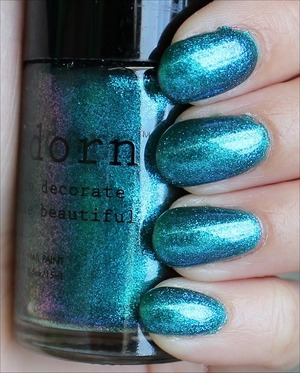 See my in-depth review & more swatches here: http://www.swatchandlearn.com/adorn-landlocked-mermaid-swatches-review/