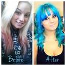 blue hair transformation