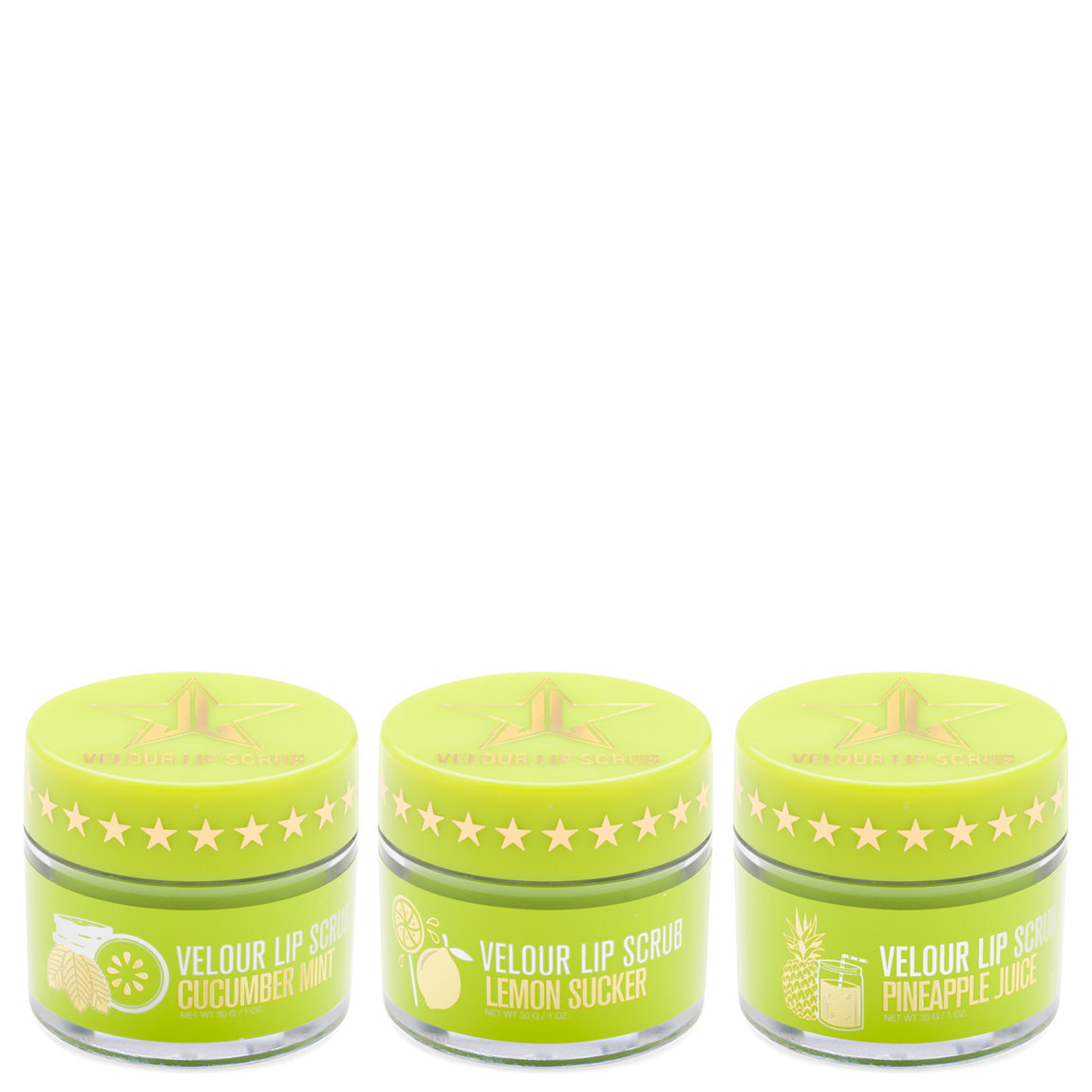 Jeffree Star Cosmetics Jawbreaker Velour Lip Scrub Bundle product smear.