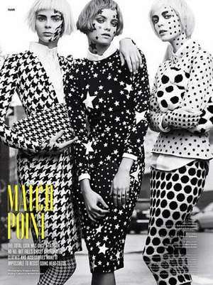 Had a great time recreating the prints of the season, the Ferragamo houndstooth was especially great on skin.