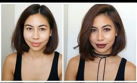 Fall Look  ♡  Vampy Lips Tutorial| Karren Mitzelle