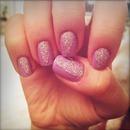 Sparkles and Pastel Purple Triangle Manicure