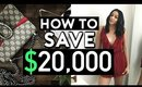 HOW TO SAVE 20,000 A YEAR    EASY STEPS TO SAVE MONEY
