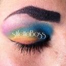 Rainbow dash eye make-up