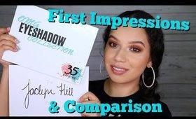 Crown OMG palette Vs Morphe Jaclyn Hill palette - first impressions | ChristineMUA