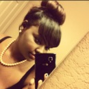 Bangs & Messy Bun.