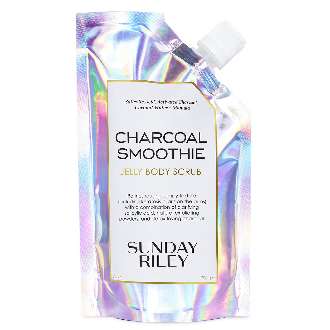 Sunday Riley Charcoal Smoothie Jelly Body Scrub product swatch.