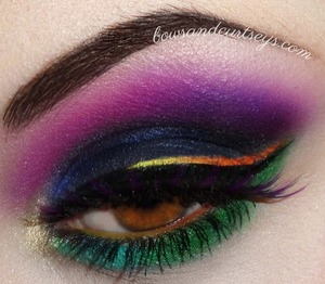 An absolutely incredible creation from Bows and Curtseys featuring our Violet Noir lashes!