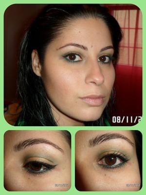 Green and orange eyes