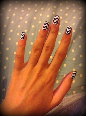 Black and white nails can go with any colour outfit!
