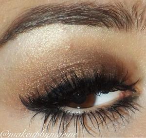 1. Urban decay primer  2. Makeup Forever eyeshadows 3. Ysl gel liner  4. Individual single eyelashes  5. Lorac mascara
