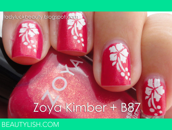 Hawaiian Nails With Zoya Kimber Video Tutorial D 233 Sir 233 E