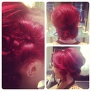 Updo style w/ hairbow