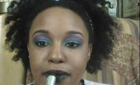Purple, Blue, and Green Alek Wek Makeup Tutorial