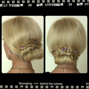 Learn how to make this hairstyle here http://youtu.be/GA6Dx5hJ3mE