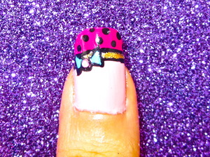 cute tip nailart to watch video tutorial for this look, SUBSCRIBE free to my youtube nailart channel: www.youtube.com/nailartbynidhi
